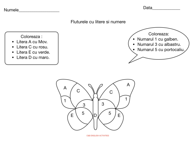 Fluturele cu litere si numere.001